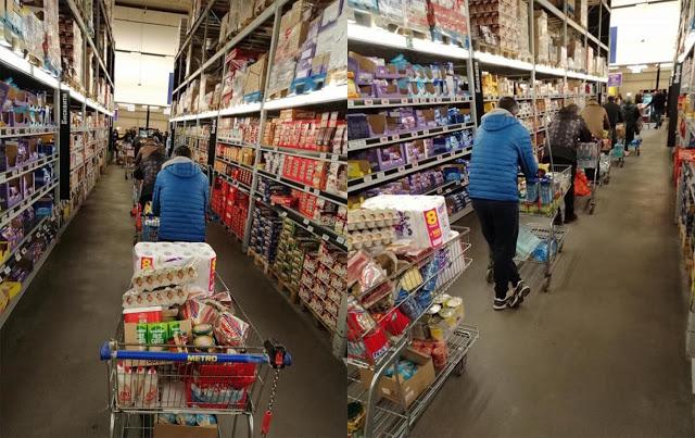 Така българинът разбира извънредното положение – 5.40 часа в хипермаркета