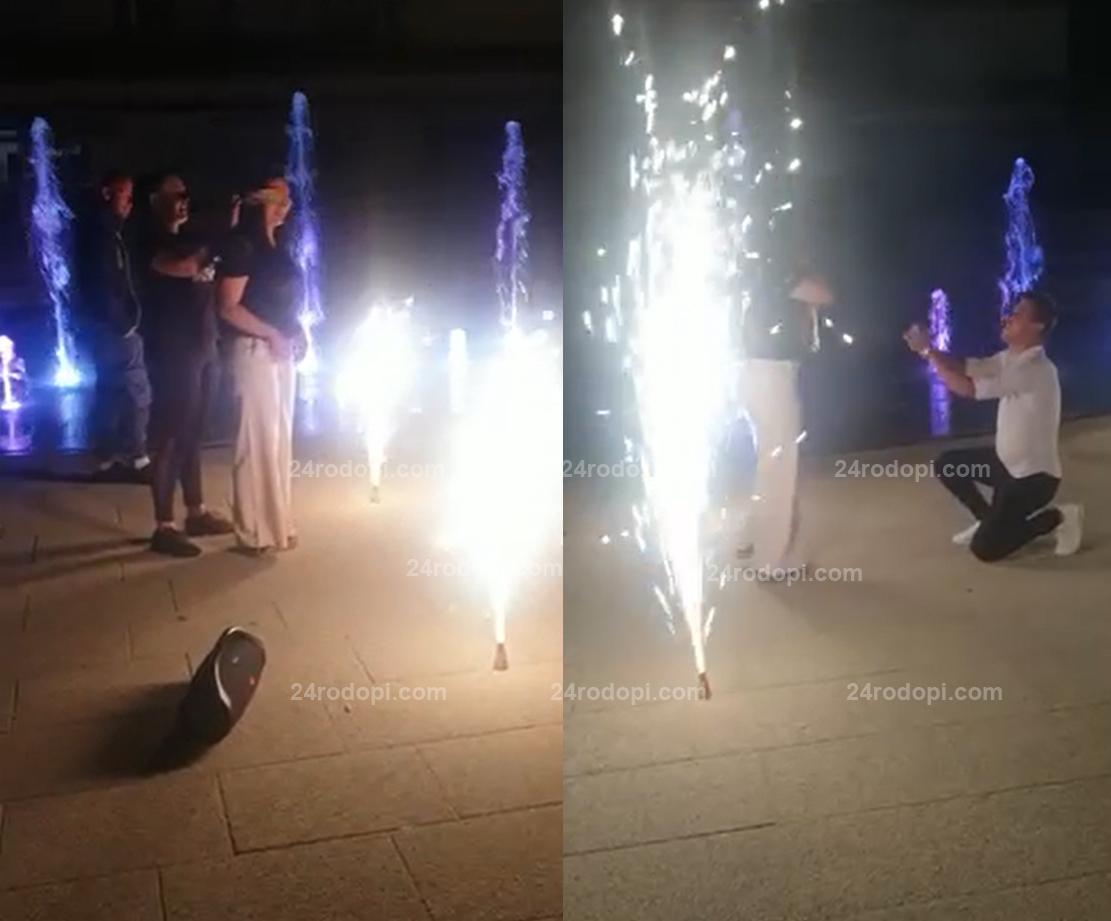 """Музика, цветни фонтани, заря и… Тюлай каза """"Да"""" на Ахмед (видео)"""