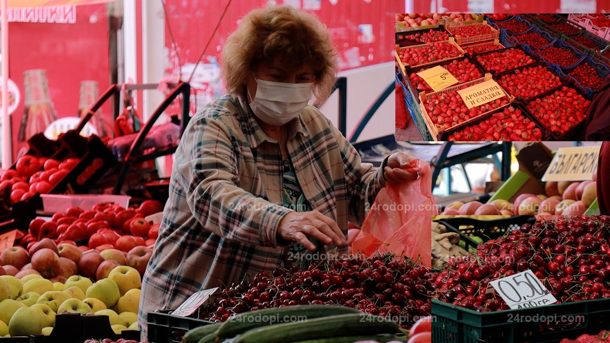 ВИДЕО: На пазара: До 5 лева за ягоди, до 6 лева за череши
