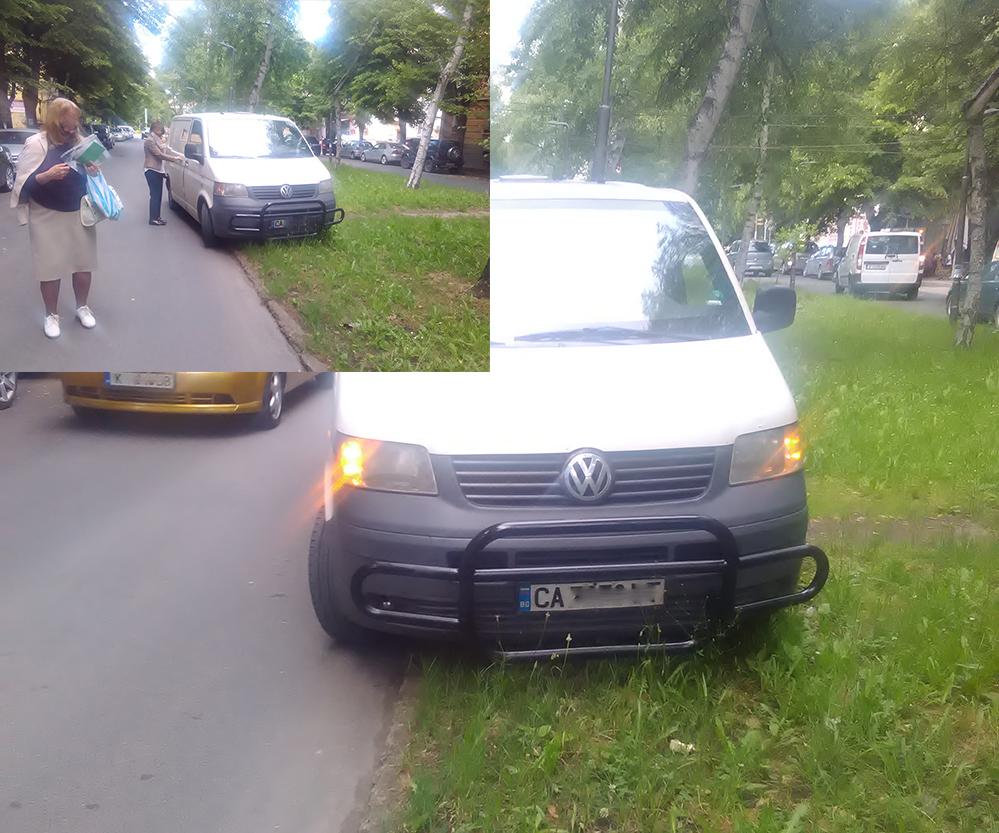"""Инкасо автомобил се намърда върху тревата и… """"Ще спирам, където си искам!"""""""
