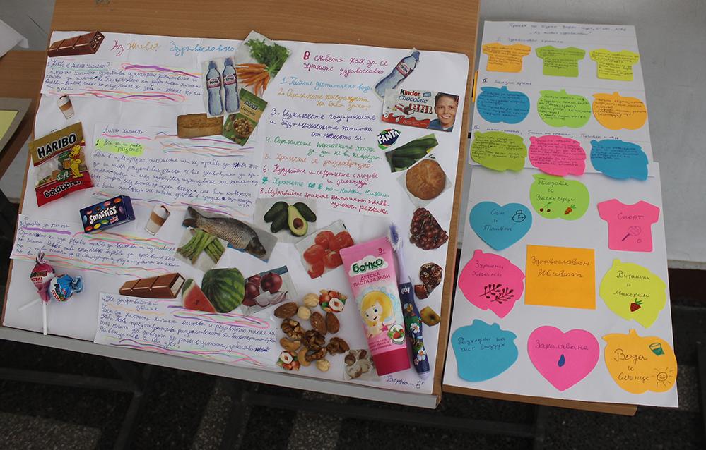 Идеите на петокласници за здравословен начин на живот