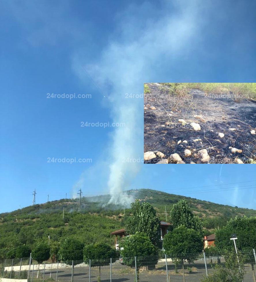 Темата +: 24-ма спасиха от пламъците 150 дка гори и 5 сгради край Момчилград (снимки)