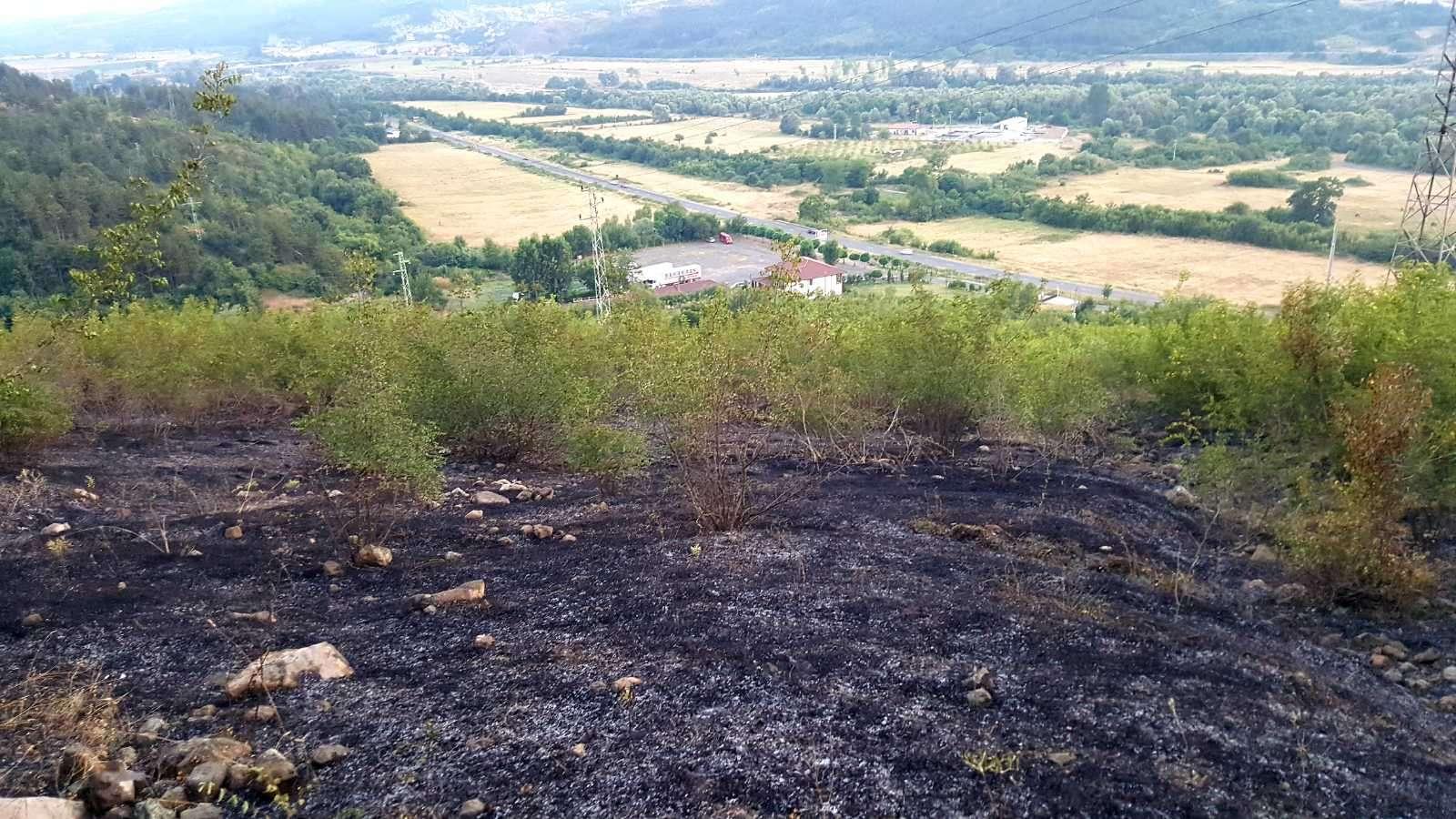 Новината в снимки: След пожара край Момчилград
