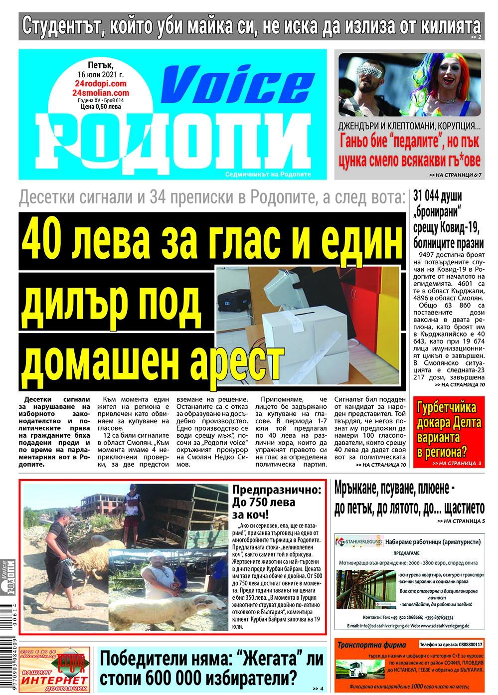 """7 месеца """"затвор"""" за купувач на гласове в Родопите, 22 преписки в Кърджали"""