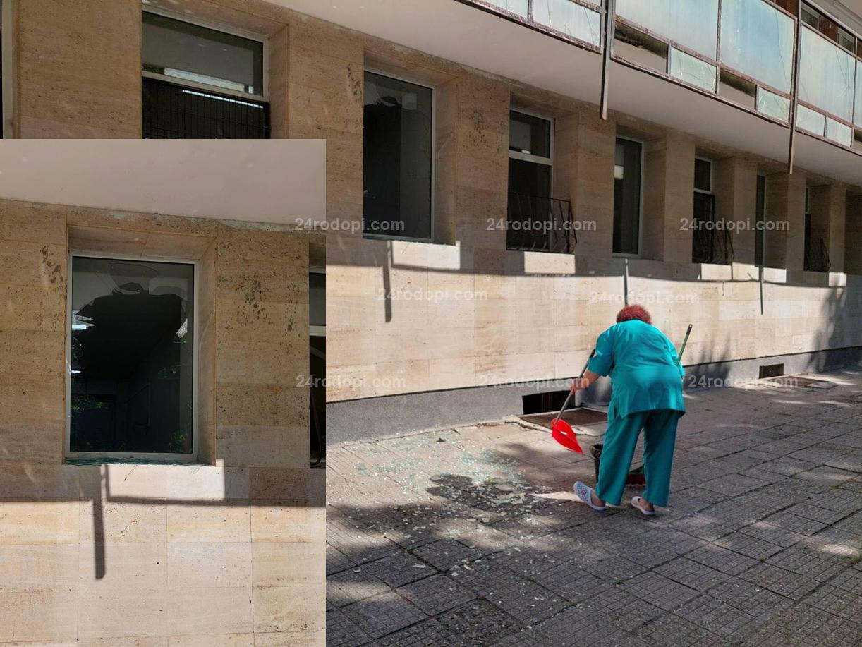 Първо в 24rodopi.com: Взрив и пожар в Инфекциозното! Двама работници са пострадали (снимки)