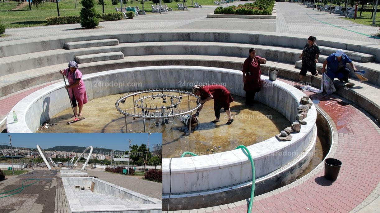 ВИДЕО репортаж: Скоро: Вода в два от шадраваните в парка, третият – с откраднати части