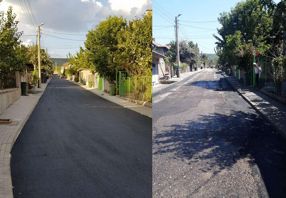 """Обещано и изпълнено: 470 метра нов асфалт и тротоари в кв. """"Мамулица"""""""