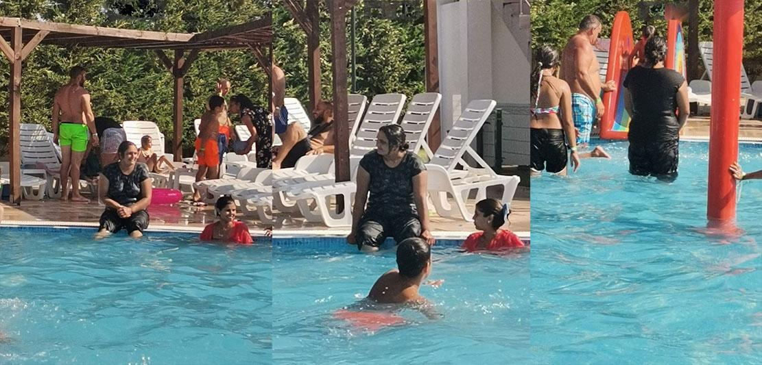 Културни особености: На басейн с дрехите, че да не… настинат?!