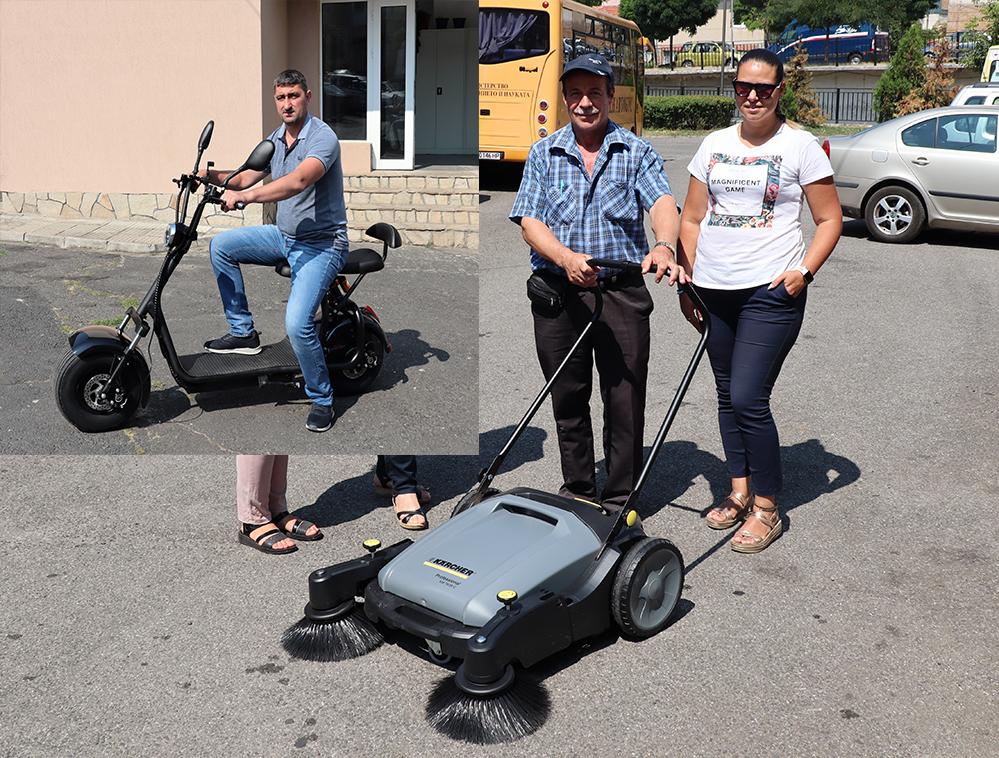 Скутер за еколозите и нова метачна машина за тротоарите в Ардино