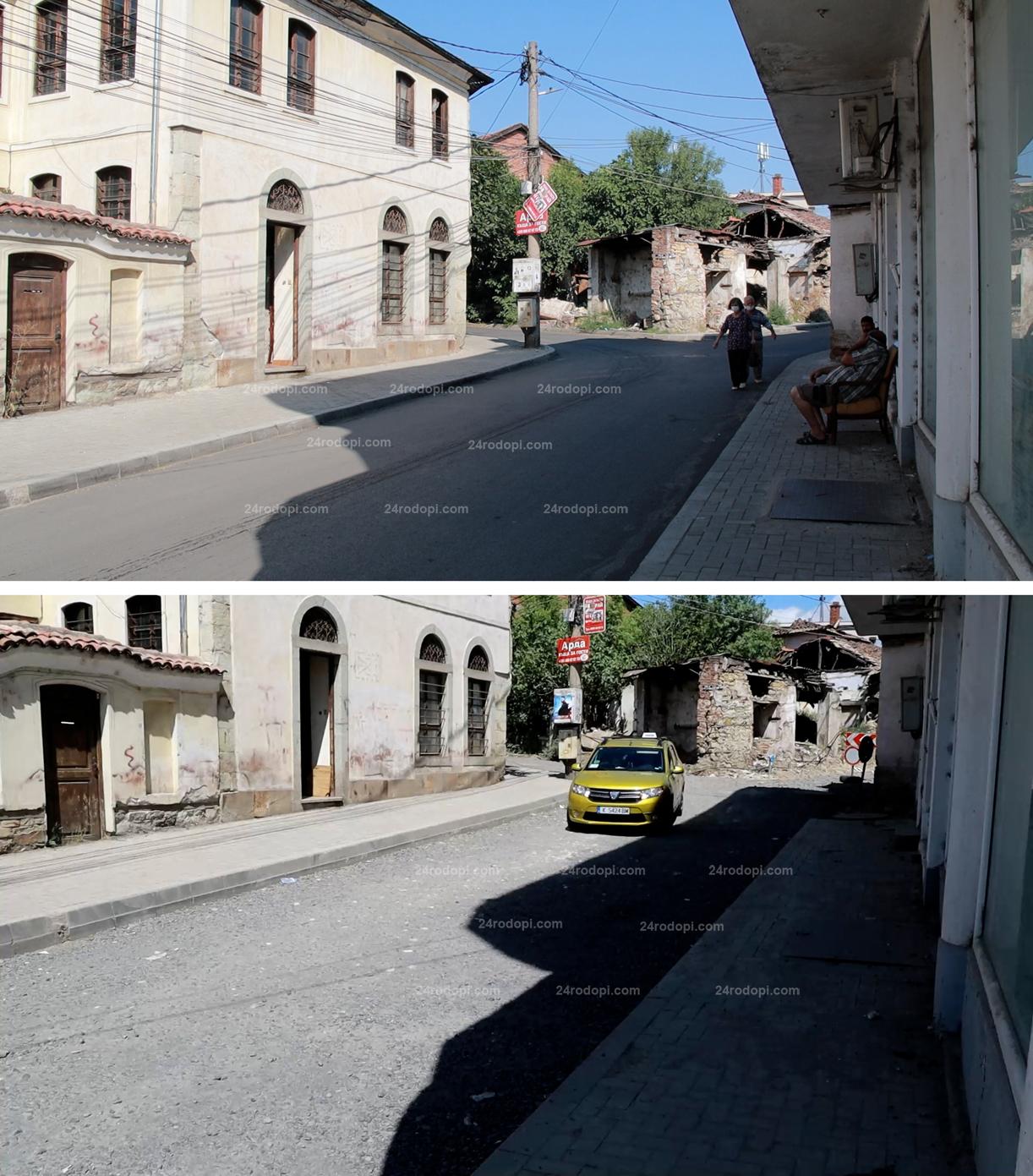 """ВИДЕО репортаж: Край на прахоляка, нов асфалт по """"язовирната пътека"""""""
