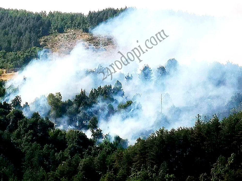 МВР: 18 огнища на пожари под наблюдение, включително и този край Кърджали!