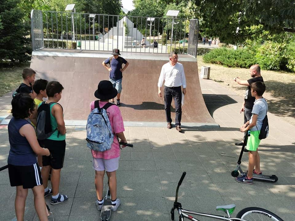 Децата дадоха идеите за скейт – парка, кметът започва изпълнението…