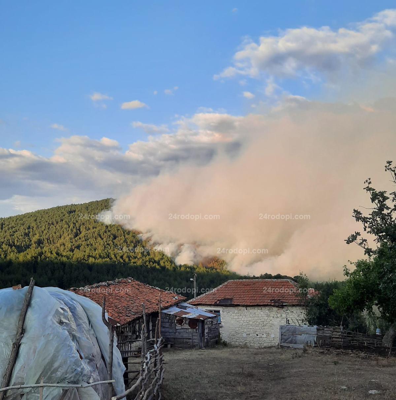 Големият пожар в Кирковско предизвикан от човешка небрежност при… варене на зимнина!? Евакуират възрастните хора
