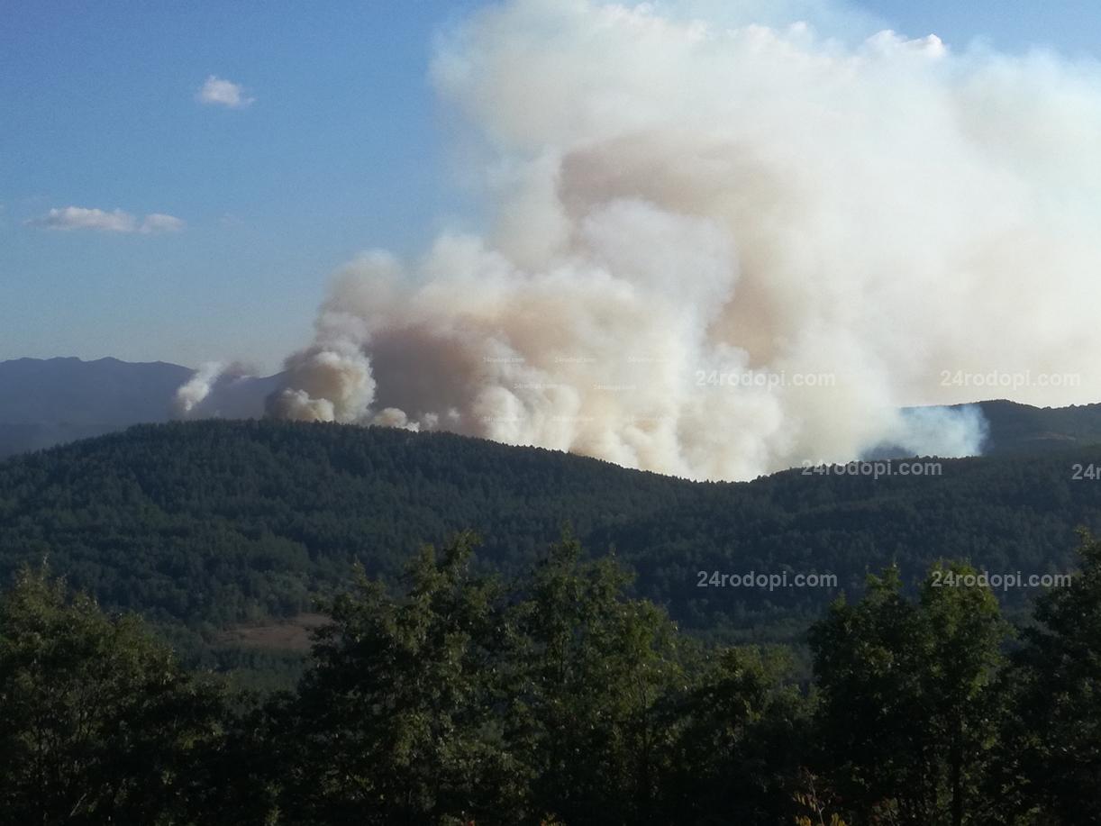 Голям пожар в Кирковско, застрашени домове в Старово! (снимки)
