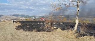 Два пожара край две села