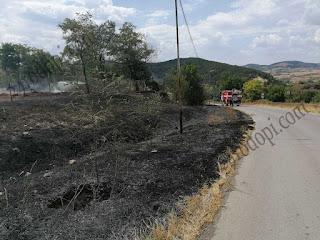 Четири екипа огнеборци гасиха пожари
