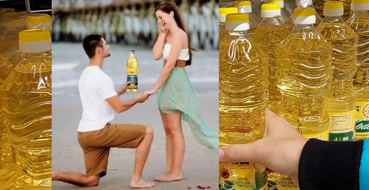 ВИДЕО репортаж: Отварям втора бутилка олио! Веднъж се живее!